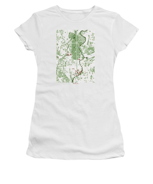 Berlin Minimal Map Women's T-Shirt (Junior Cut) by Jasone Ayerbe- Javier R Recco