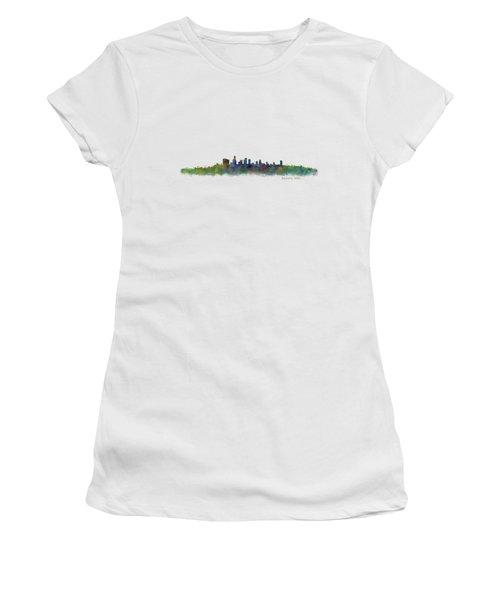 Beverly Hills City In La City Skyline Hq V2 Women's T-Shirt (Junior Cut) by HQ Photo