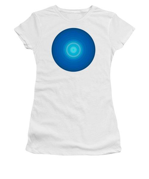 Blue Circles Women's T-Shirt (Junior Cut) by Frank Tschakert