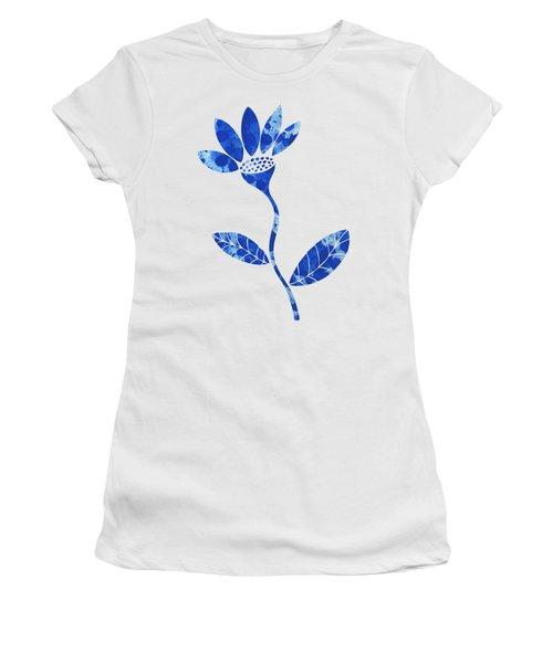 Blue Flower Women's T-Shirt (Junior Cut) by Frank Tschakert