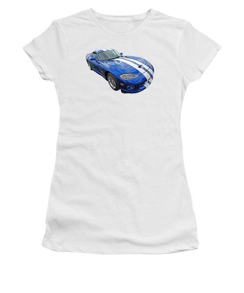 Blue Viper Women's T-Shirt (Junior Cut) by Gill Billington