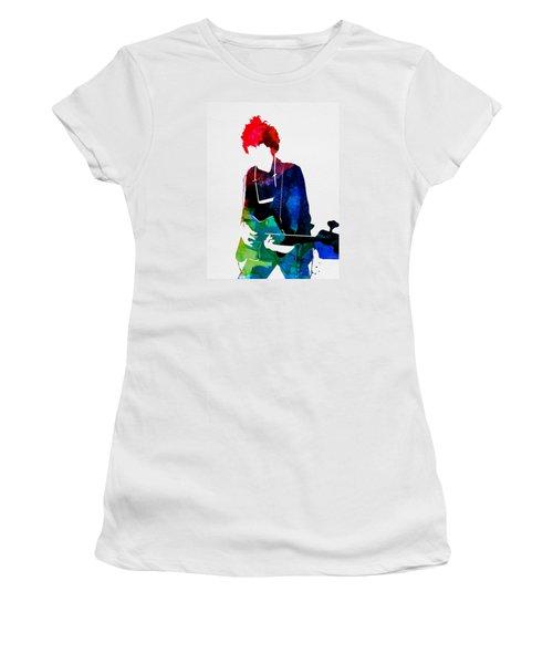Bob Watercolor Women's T-Shirt (Junior Cut) by Naxart Studio