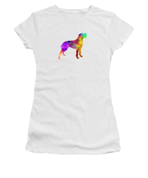 Bohemian Wirehaired Pointing Griffon In Watercolor Women's T-Shirt (Junior Cut) by Pablo Romero