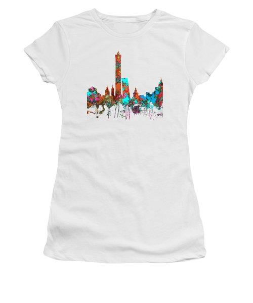 Bologna Italy  Skyline  Women's T-Shirt (Junior Cut) by Marlene Watson