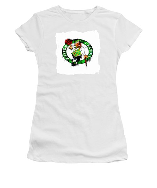 Boston Celtics 2b Women's T-Shirt (Junior Cut) by Brian Reaves