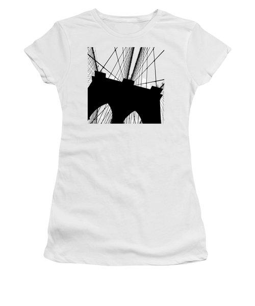 Brooklyn Bridge Architectural View Women's T-Shirt (Junior Cut) by Az Jackson
