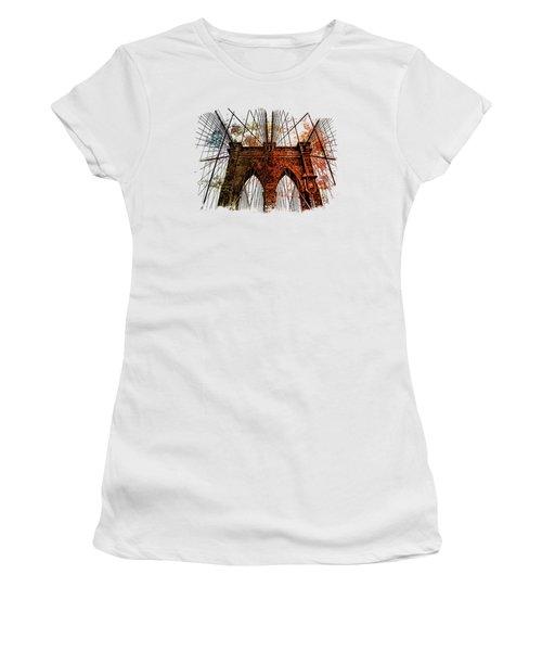 Brooklyn Bridge Art 1 Women's T-Shirt (Junior Cut) by Di Designs