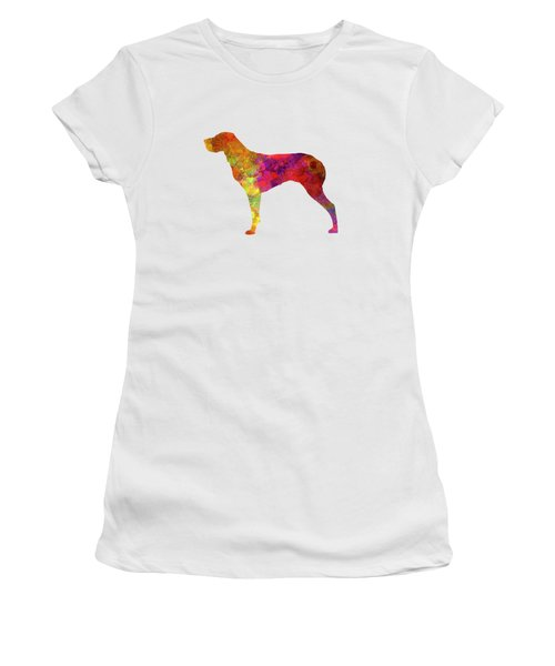 Burgos Pointer In Watercolor Women's T-Shirt (Junior Cut) by Pablo Romero