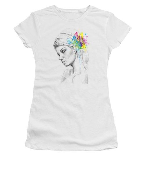 Butterfly Queen Women's T-Shirt (Junior Cut) by Olga Shvartsur