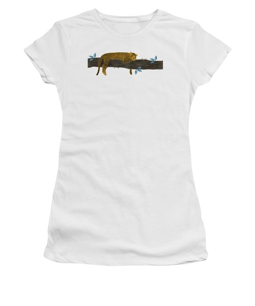 Cheetah Chill Women's T-Shirt (Junior Cut) by Priscilla Wolfe