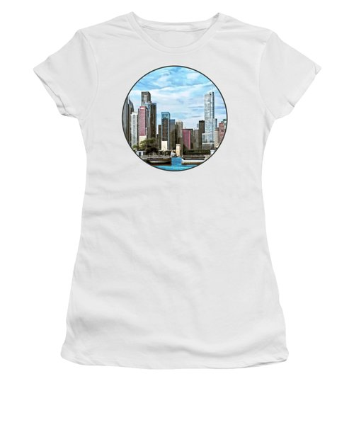 Chicago Il - Chicago Harbor Lock Women's T-Shirt (Junior Cut) by Susan Savad