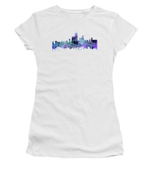 Chicago Women's T-Shirt (Junior Cut) by JW Digital Art