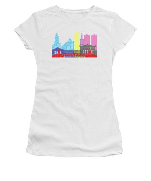Chicago Skyline Pop Women's T-Shirt (Junior Cut) by Pablo Romero