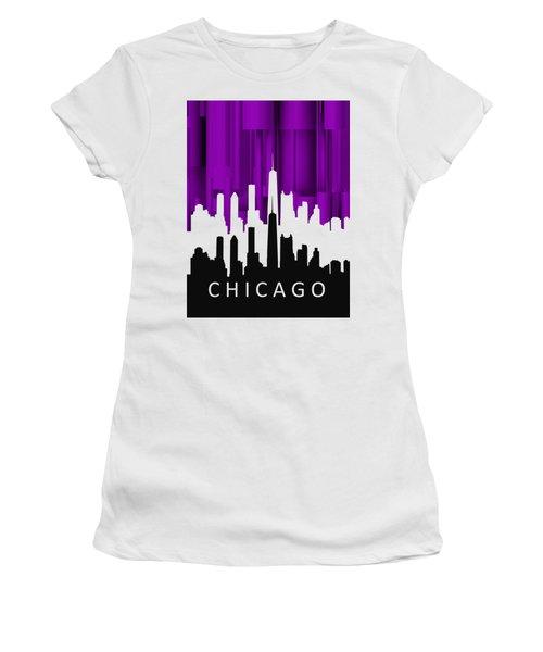Chicago Violet In Negative Women's T-Shirt (Junior Cut) by Alberto RuiZ