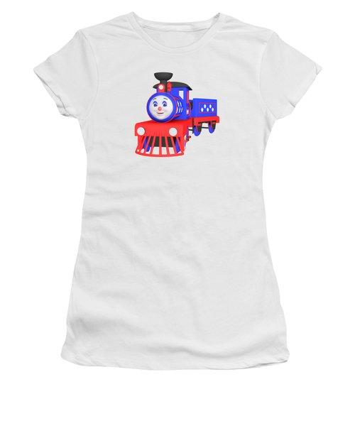 Choo-choo The Train - 1 Women's T-Shirt (Junior Cut) by Yulia Litvinova