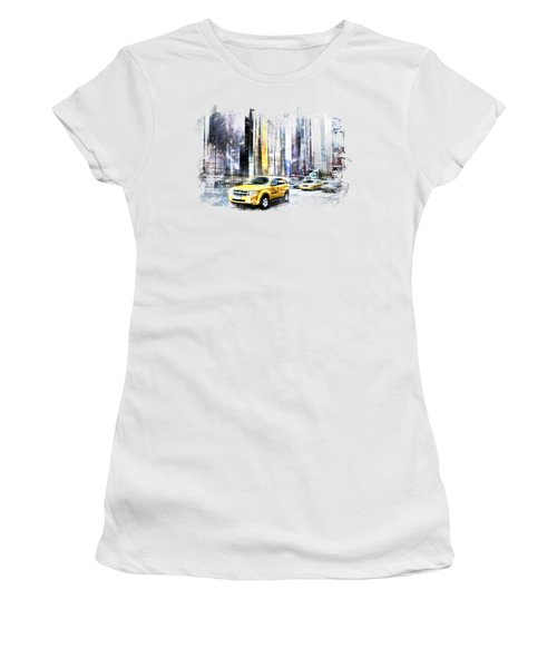 City-art Times Square II Women's T-Shirt (Junior Cut) by Melanie Viola