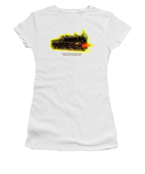 Classic British Steam Locomotive Women's T-Shirt (Junior Cut) by Heidi De Leeuw
