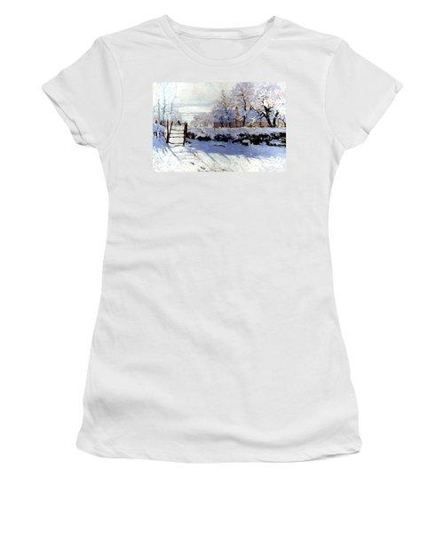 Claude Monet: The Magpie Women's T-Shirt (Junior Cut) by Granger