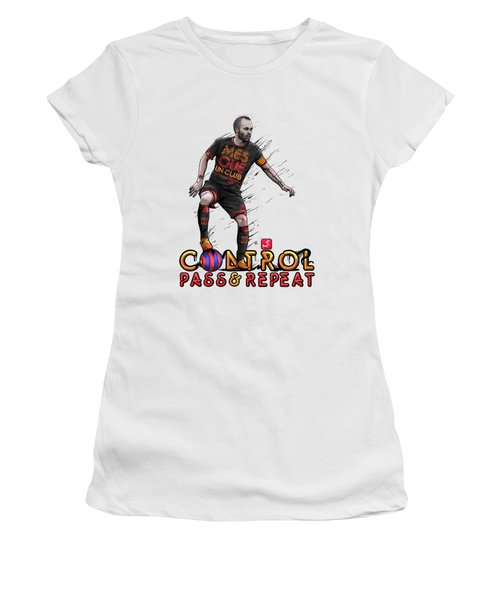 Control Pass And Repeat Women's T-Shirt (Junior Cut) by Akyanyme