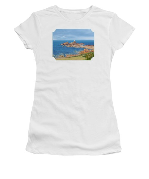 Corbiere Lighthouse Jersey Women's T-Shirt (Junior Cut) by Gill Billington