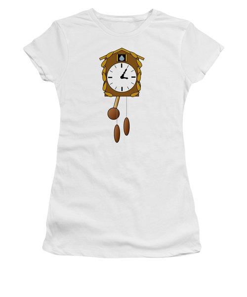 Cuckoo Clock Women's T-Shirt (Junior Cut) by Miroslav Nemecek