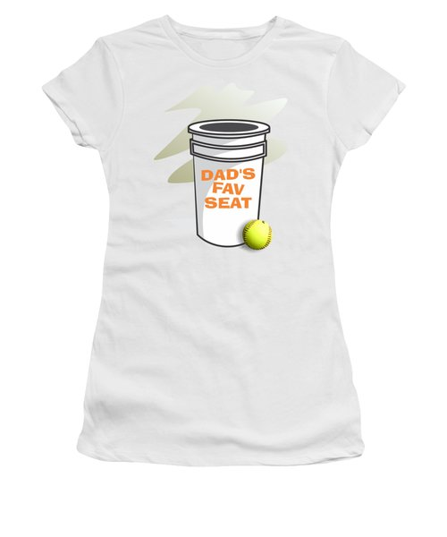 Dad's Fav Seat Women's T-Shirt (Junior Cut) by Jerry Watkins