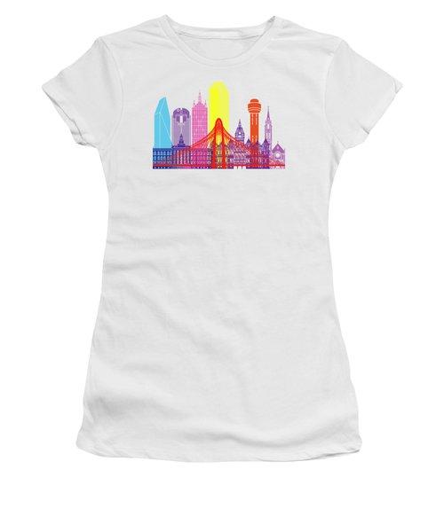 Dallas Skyline Pop Women's T-Shirt (Junior Cut) by Pablo Romero