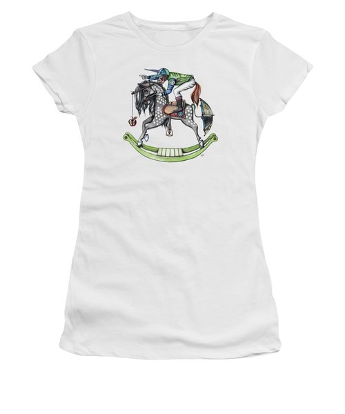 Day At The Races Women's T-Shirt (Junior Cut) by Kelly Jade King