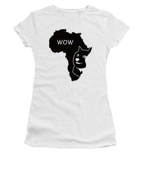 Dogecoin In Africa Women's T-Shirt (Junior Cut) by Michael Jordan