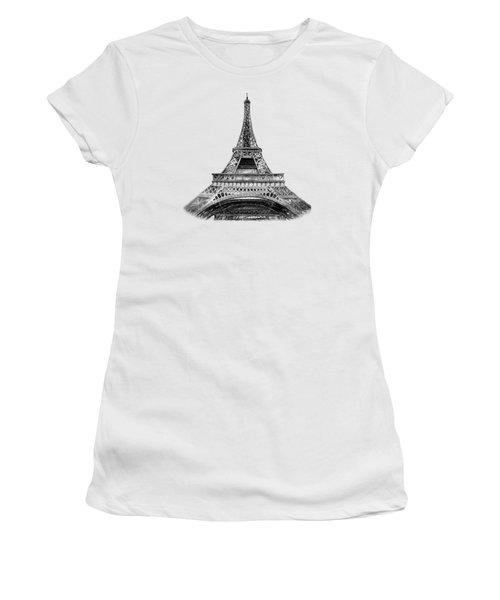 Eiffel Tower Design Women's T-Shirt (Junior Cut) by Irina Sztukowski