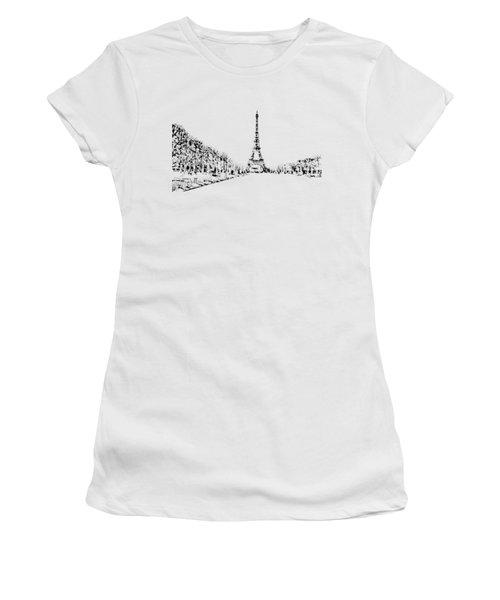 Eiffel Tower Women's T-Shirt (Junior Cut) by ISAW Company