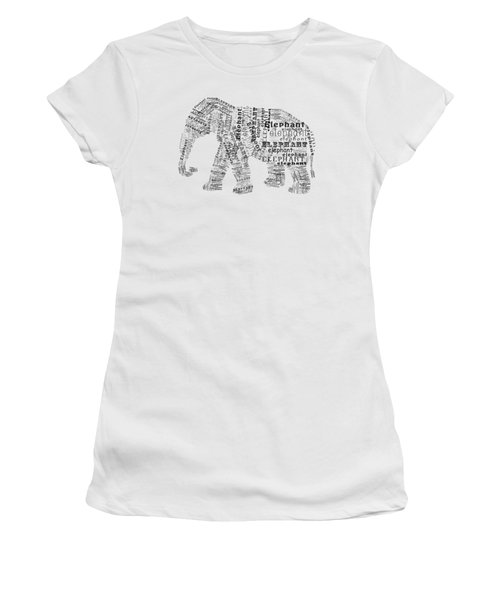Elefont Noir Women's T-Shirt (Junior Cut) by Heather Applegate
