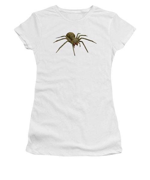 Evil Spider Women's T-Shirt (Junior Cut) by Martin Capek