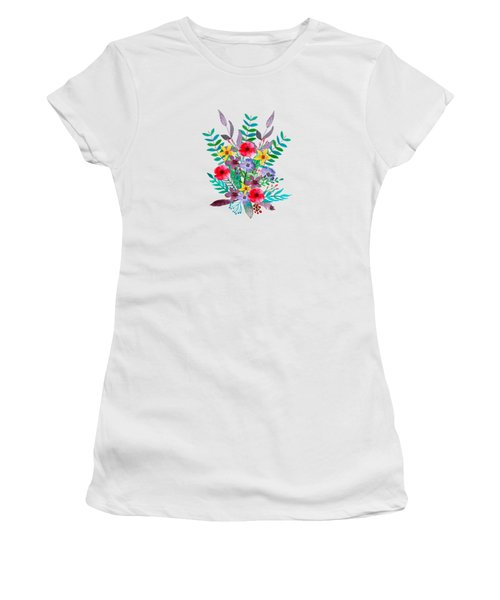 Floral Bouquet Women's T-Shirt (Junior Cut) by Amanda Lakey