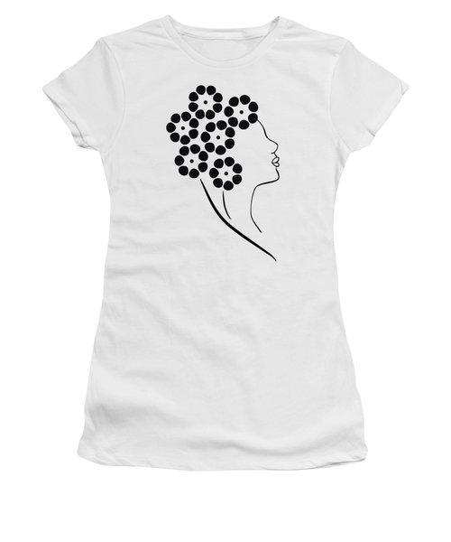 Flower Girl Women's T-Shirt (Junior Cut) by Frank Tschakert