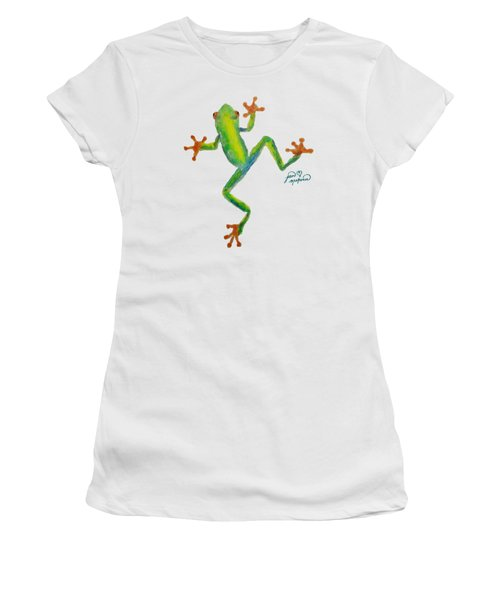 Red Eyed Tree Frog By Jan Marvin Women's T-Shirt (Junior Cut) by Jan Marvin