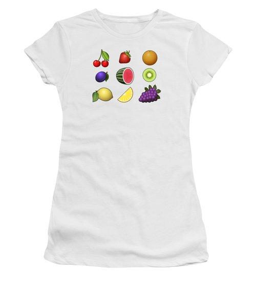 Fruits Collection Women's T-Shirt (Junior Cut) by Miroslav Nemecek
