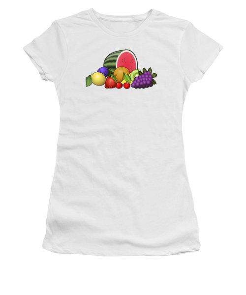 Fruits Heap Women's T-Shirt (Junior Cut) by Miroslav Nemecek