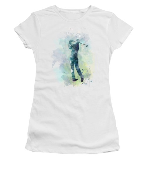 Golf Player  Women's T-Shirt (Junior Cut) by Marlene Watson