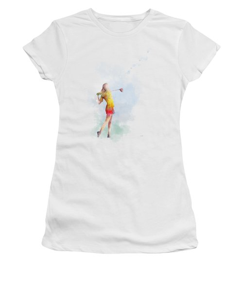 Golfer Women's T-Shirt (Junior Cut) by Marlene Watson