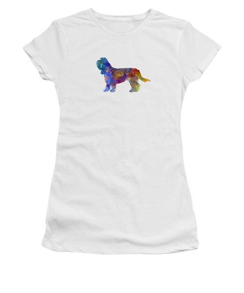 Grand Basset Griffon Vendeen In Watercolor Women's T-Shirt (Junior Cut) by Pablo Romero