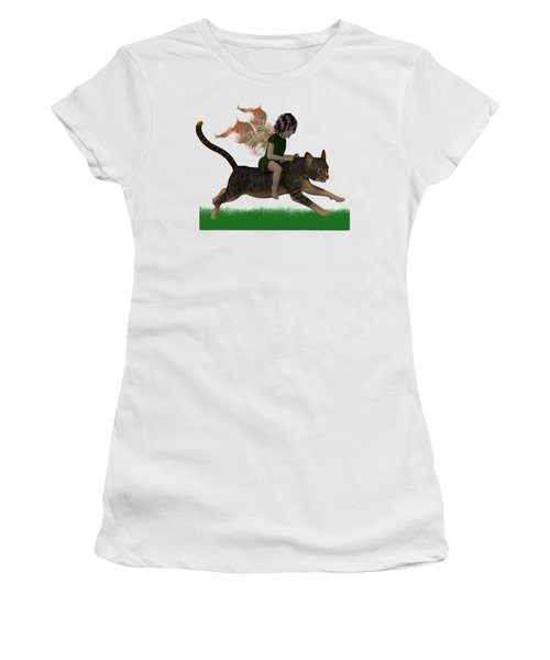 Having Fun Women's T-Shirt (Junior Cut) by Nancy Pauling