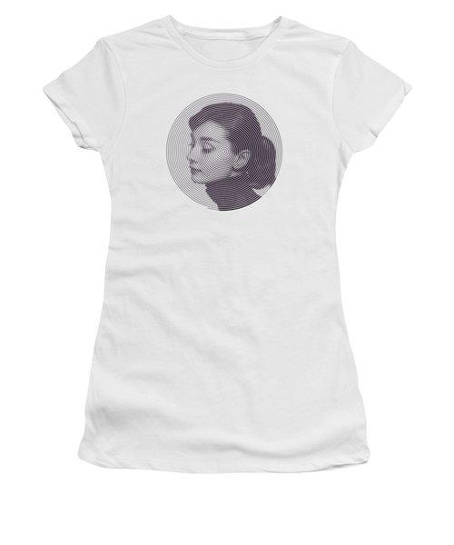 Hepburn Women's T-Shirt (Junior Cut) by Zachary Witt