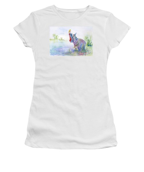 Hey Whats The Big Idea Women's T-Shirt (Junior Cut) by Amy Kirkpatrick