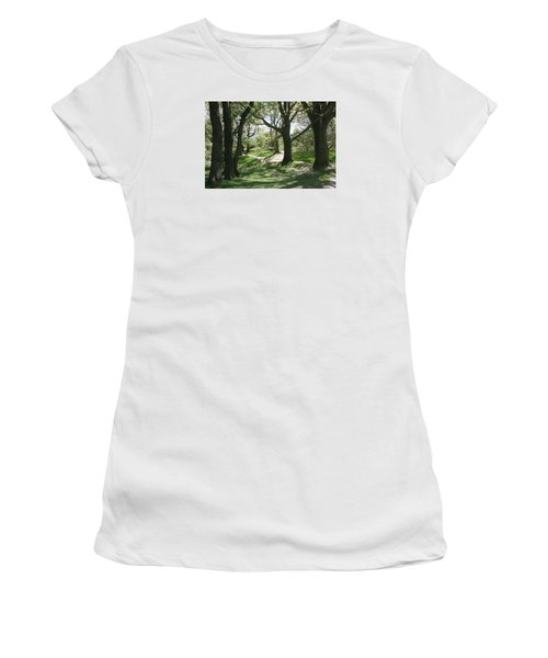 Women's T-Shirt (Junior Cut) featuring the photograph Hill 60 Cratered Landscape by Travel Pics