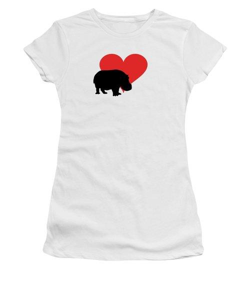 Hippopotamus Women's T-Shirt (Junior Cut) by Mordax Furittus