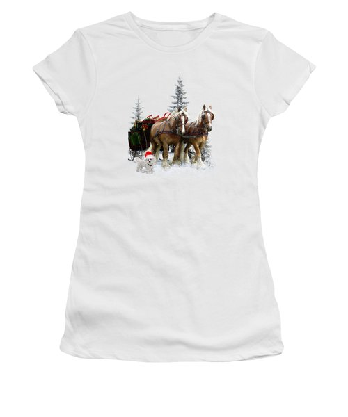 A Christmas Wish Women's T-Shirt (Junior Cut) by Shanina Conway