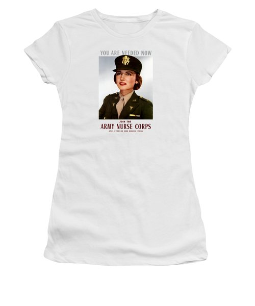 Join The Army Nurse Corps Women's T-Shirt (Junior Cut) by War Is Hell Store