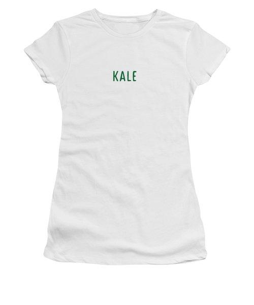 Kale Women's T-Shirt (Junior Cut) by Cortney Herron