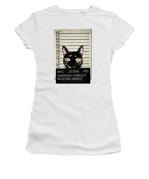 Kitty Mugshot Women's T-Shirt (Junior Cut) by Nicklas Gustafsson